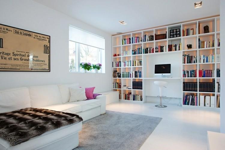 alfombras estilos casa estantes carteles libros