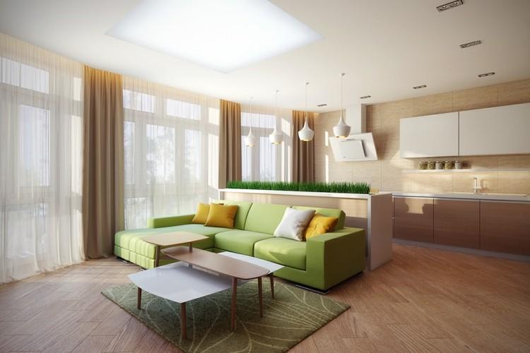 alfombras paredes suelo colores verdes