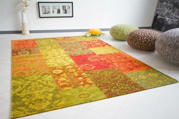 alfombras vintage y papel de pared para interiores creativos - Alfombras Vintage