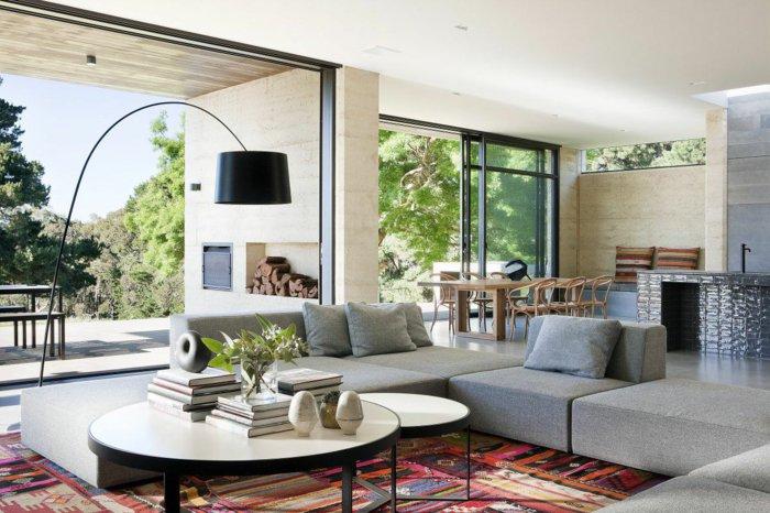 alfombras vintage elegante cortinas jardines lamparas