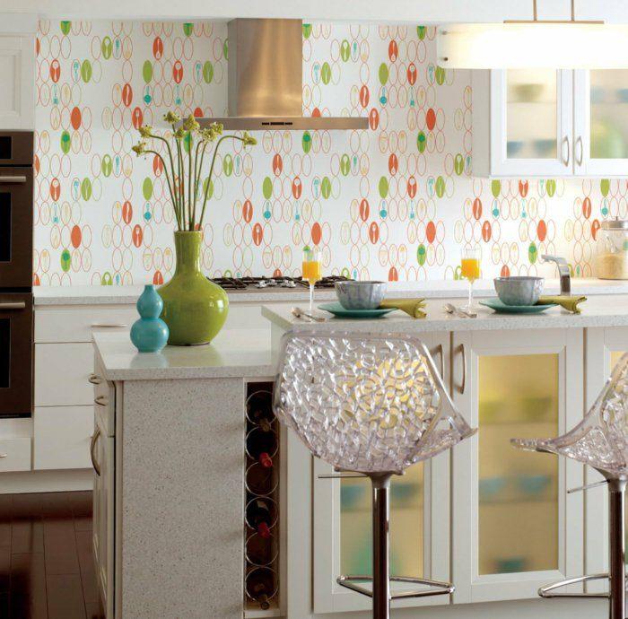alfombras vintage papel cocina diseño verde