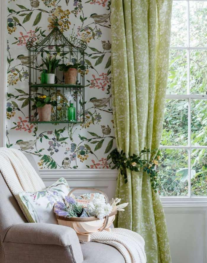 alfombras vintage papel elegante cortinas ventanas