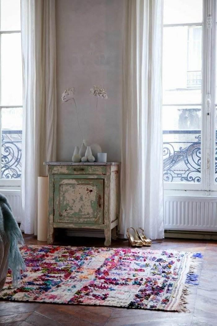 alfombras vintage papel elegante mueblas luminoso