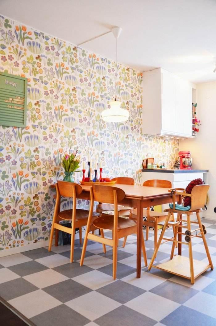 alfombras vintage papel maderas blanco lamparas