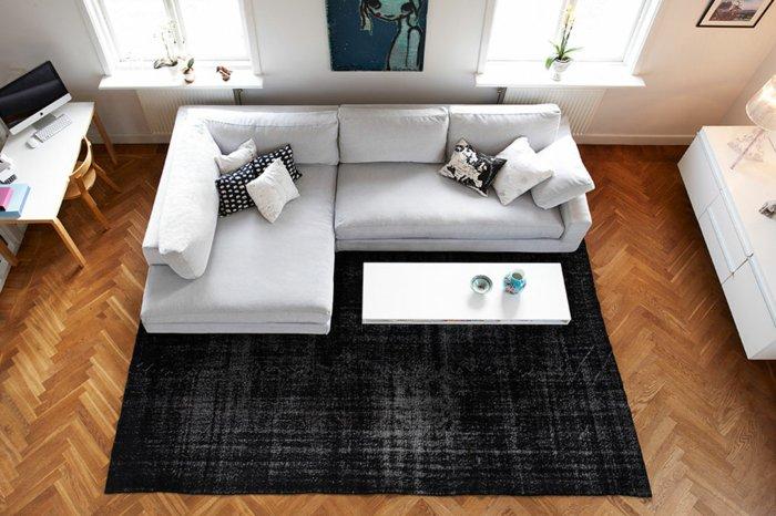 alfombras vintage papel negro diseños