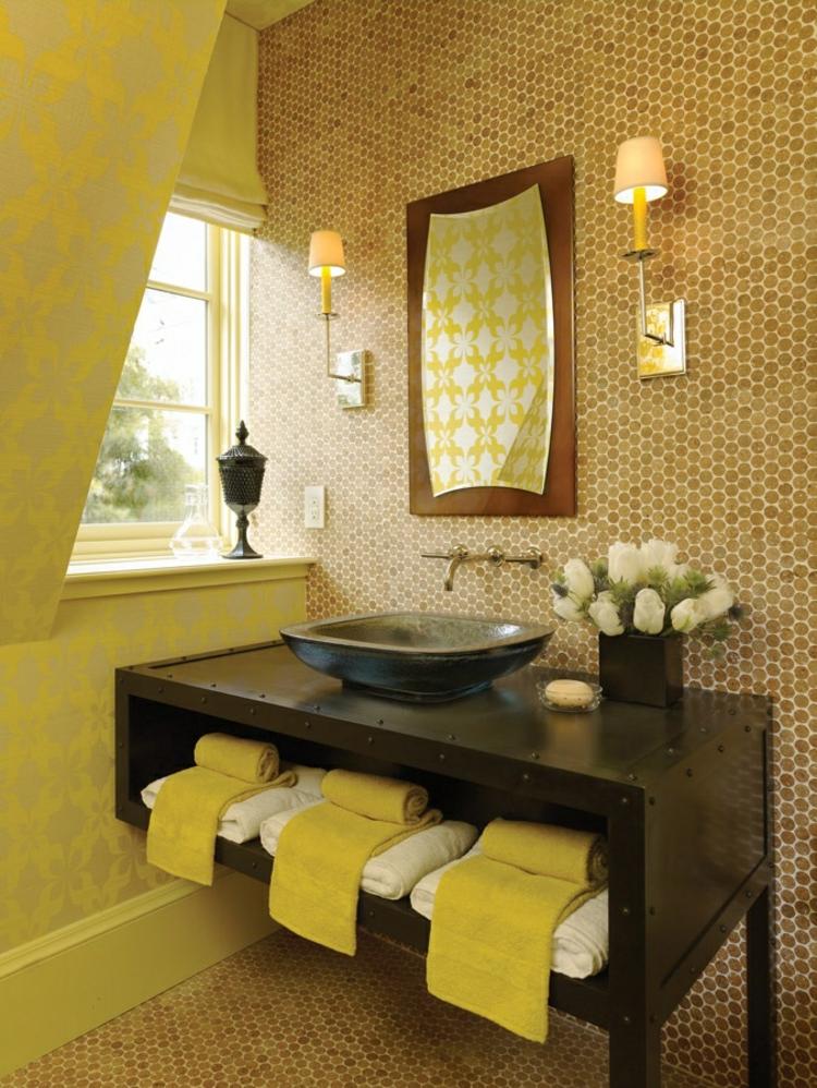 amarillo paredes calido espejo cristales