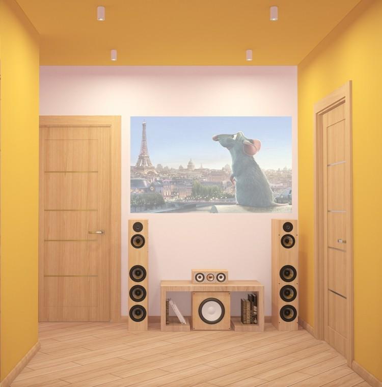 amarillo paredes puertas paredes raton