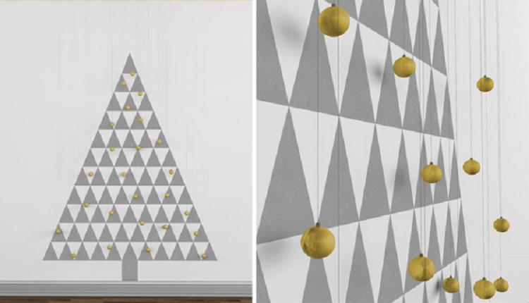 arboles de navidad ideas madea dorados grises