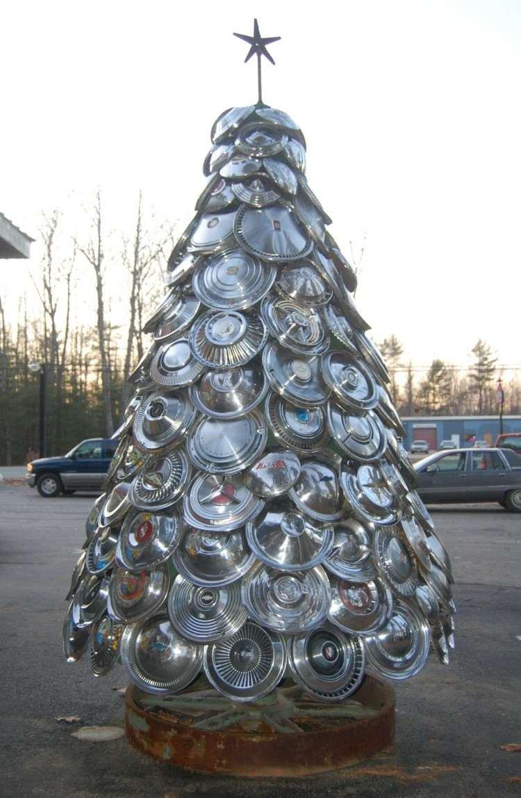 arboles de navidad ideas madea metales estrella