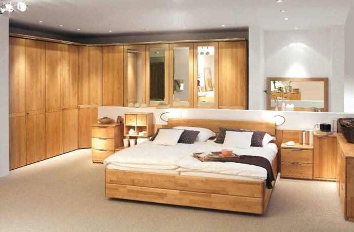 armarios madera suelo techo dormitorio ideas