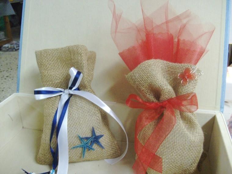 arpillera decoracion bolsitas regalo pequenas ideas