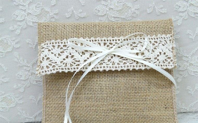 arpillera decoracion sobre original lazo blanco ideas