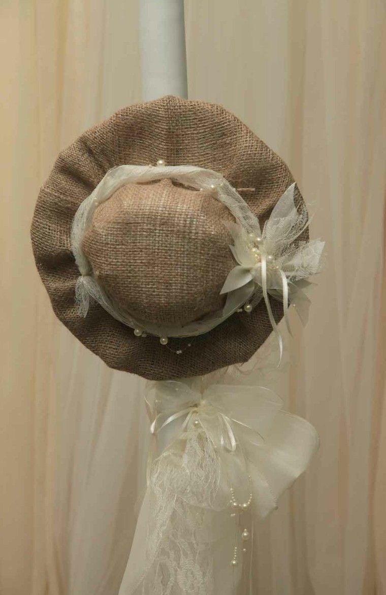 arpillera decoracion sombrero original ideas