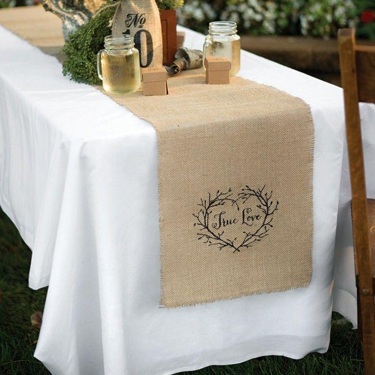 Arpillera opciones para usarla como decoraci n en casa for Como hacer caminos de mesa modernos