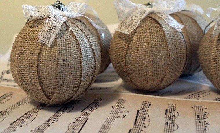arpillera opcion bolas decorativas lazos ideas