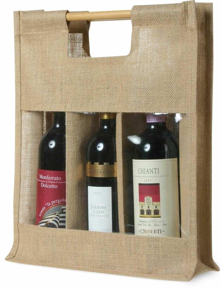 arpillera opcion bolsa regalo botellas vino ideas