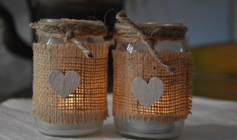 arpillera opcion candelabros taros cristal ideas