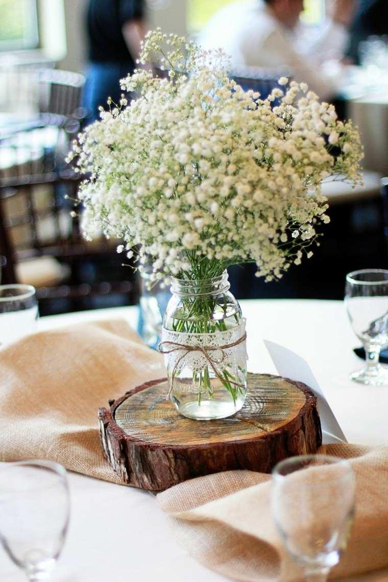 arpillera opcion centro mesa madera ideas