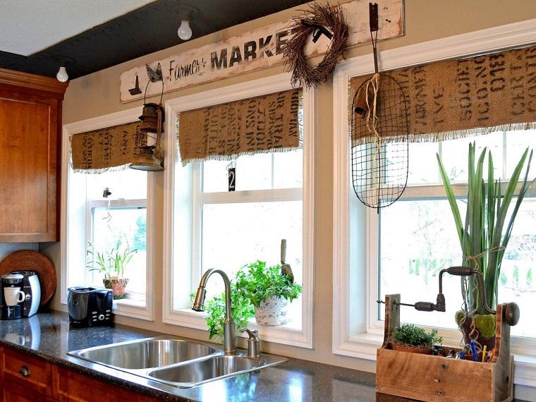 arpillera opciones cocina cortinas originales ideas