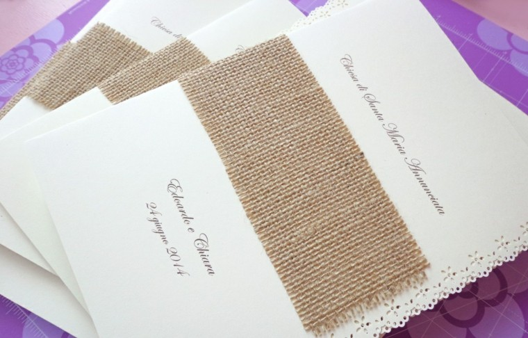 arpillera opciones invitaciones boda shabby chic ideas