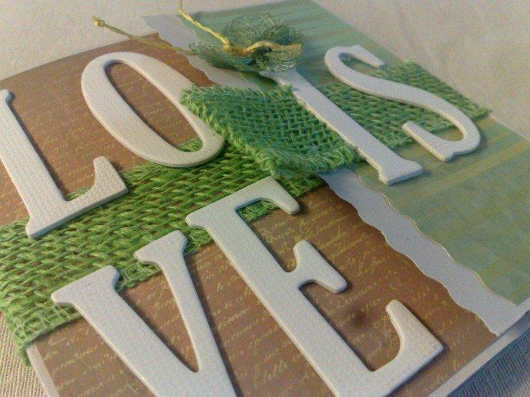 arpillera opcion pintada verde ideas
