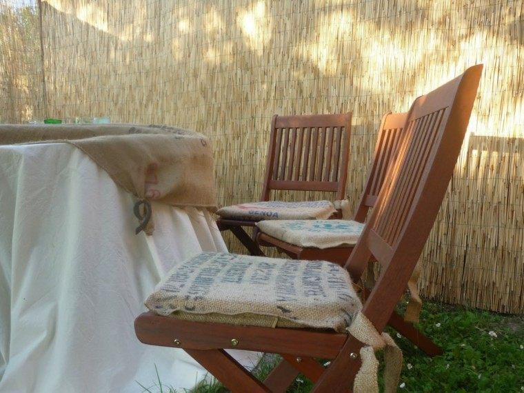 arpillera opcion sillas asientos tapizados jardin ideas