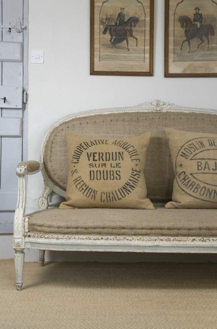 arpillera opcion sofa vintage madera ideas