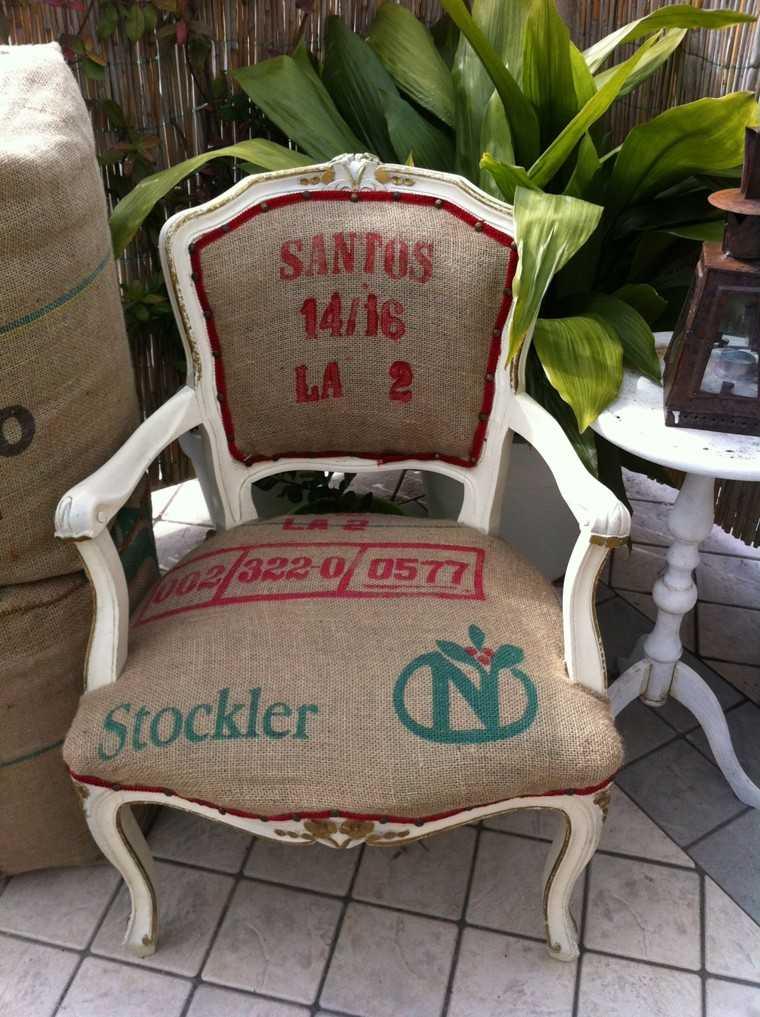 arpillera opcion tapizar sillas ideas