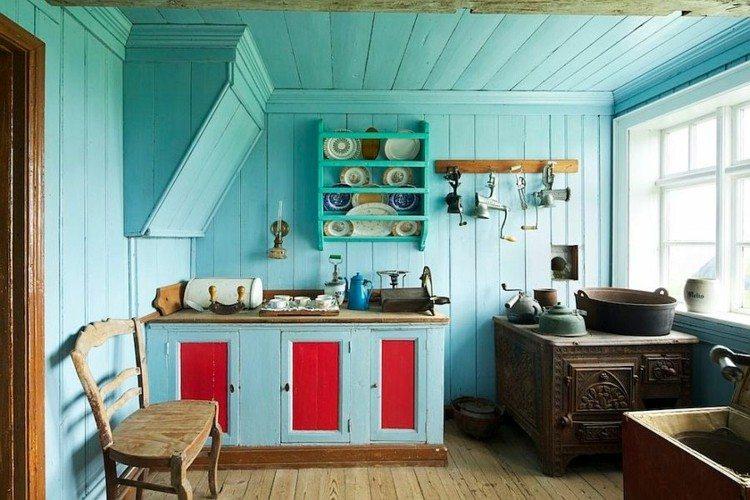 atractiva cocina diseños elegante azules decorado