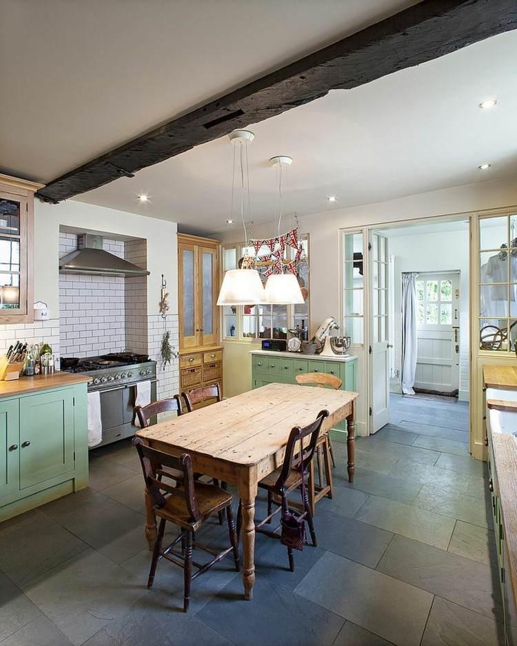 atractiva cocina diseños elegante muebles mesa