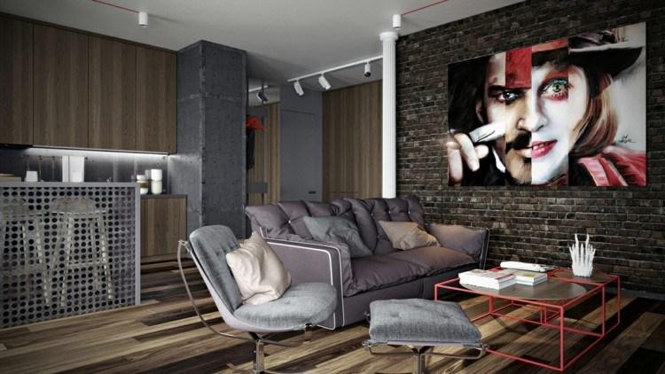decoracion casas colores metales rojo madera