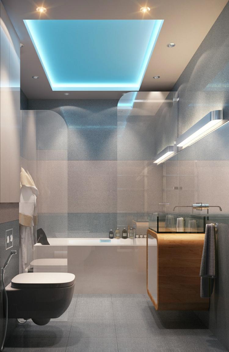 azules madera led ideas luces