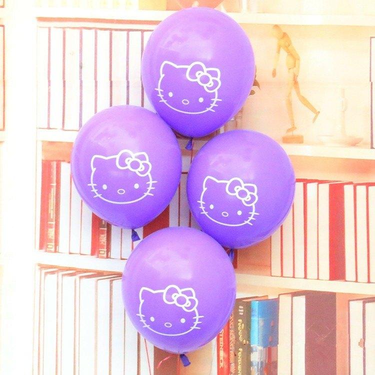 globos morados hello kittie
