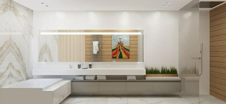 baño detalles decoracion verde plantas