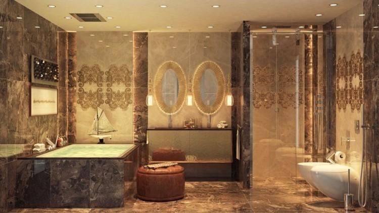 baño estilo deco lujoso luces