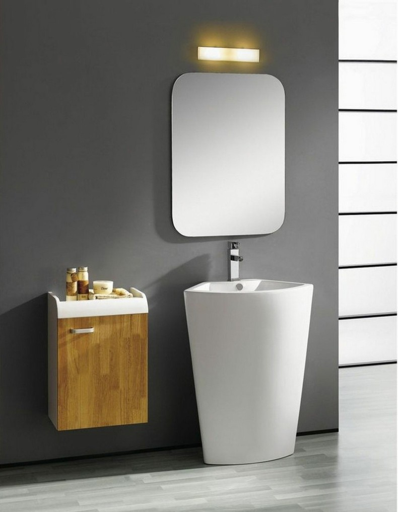baño minimalista original espejo
