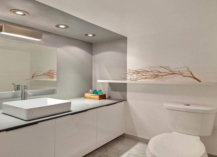 espejos para baños moderno blanco