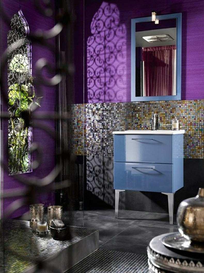 baños de color restilo moderno color purpura