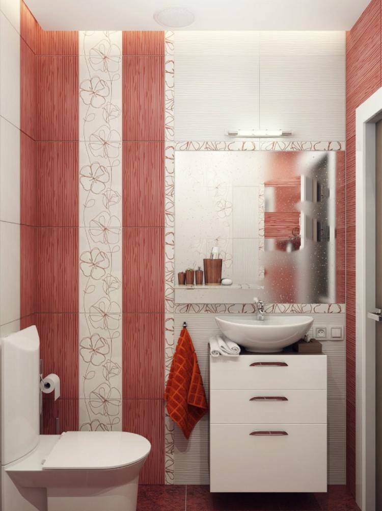 baño pequeño toallas blanco espejo