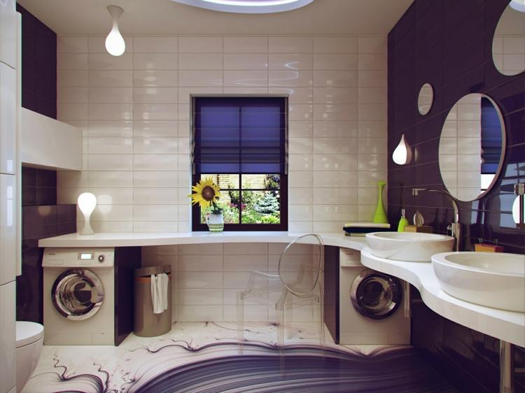 baño pequeño toallas ventanas lavadora