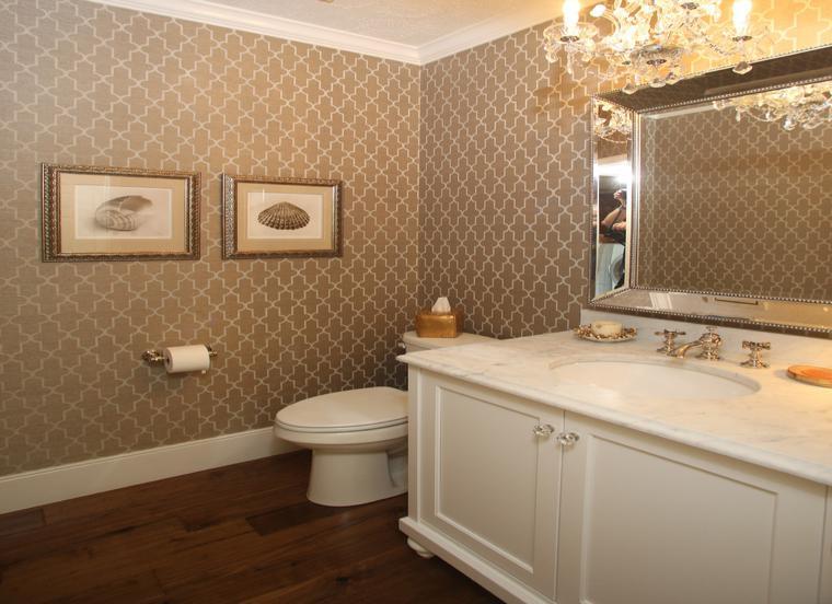 baño estilo retro bonito espejo