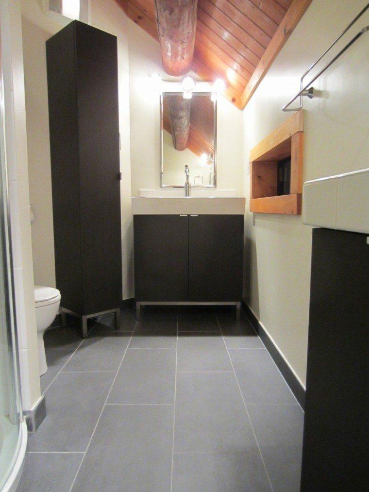 baño estilo rustico diseño moderno