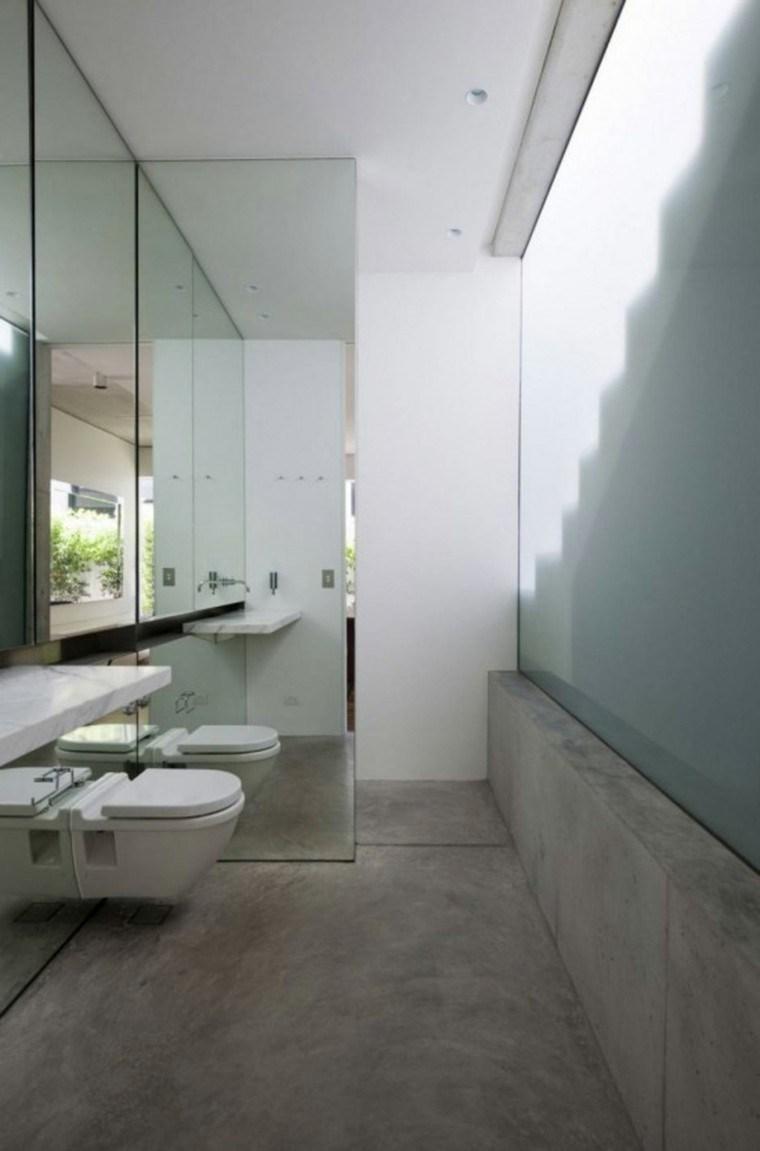 baño moderno estilo minimalista cemento