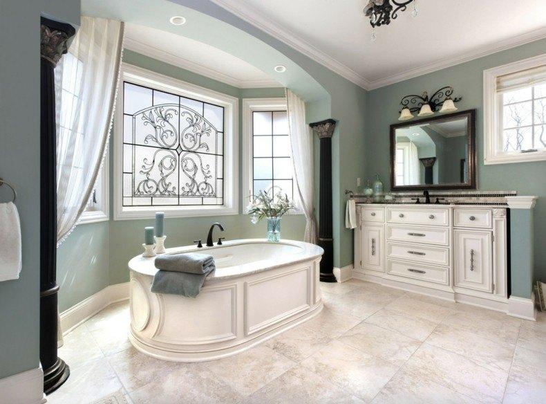 baño lujoso color gris verdoso
