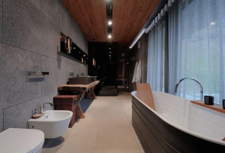 baños modernos todo cemento