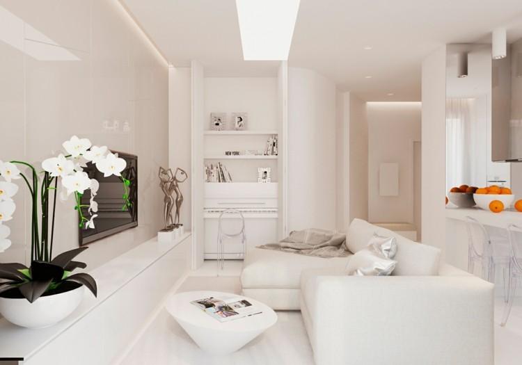bailarinas diseños estantes flores blanco