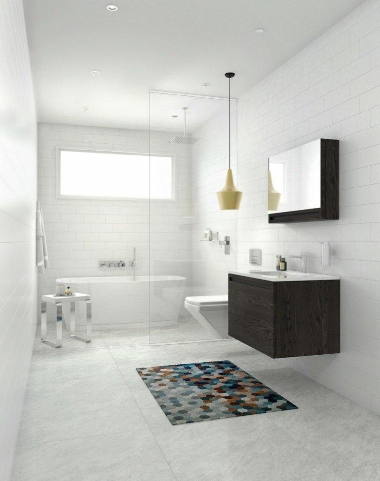 baños decoracion original alfombra ideas