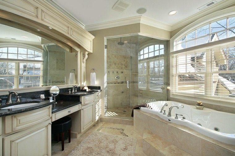 ba os modernos con ducha 50 dise os impresionantes On banos modernos con jacuzzi y regadera