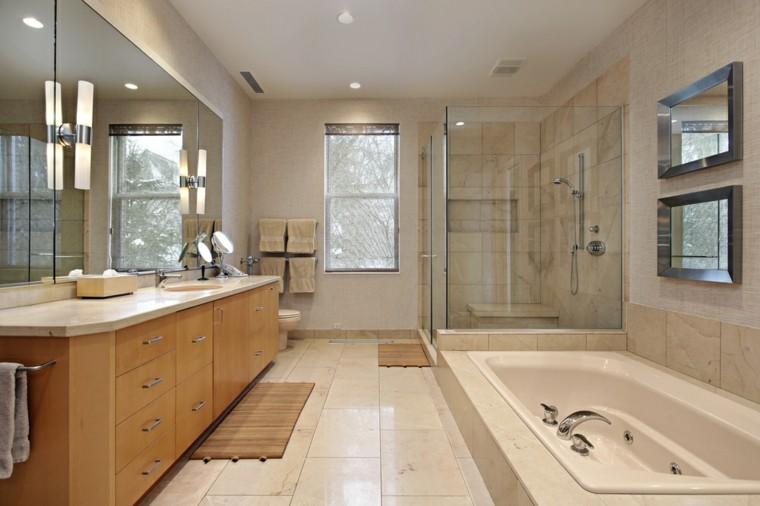 baños modernos con ducha cuadros pared ideas