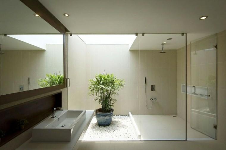 banos modernos con ducha estilo zen ideas